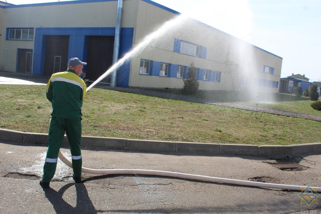 Фотофакт. На «Здравушке-Милк» прошли пожарные учения 6