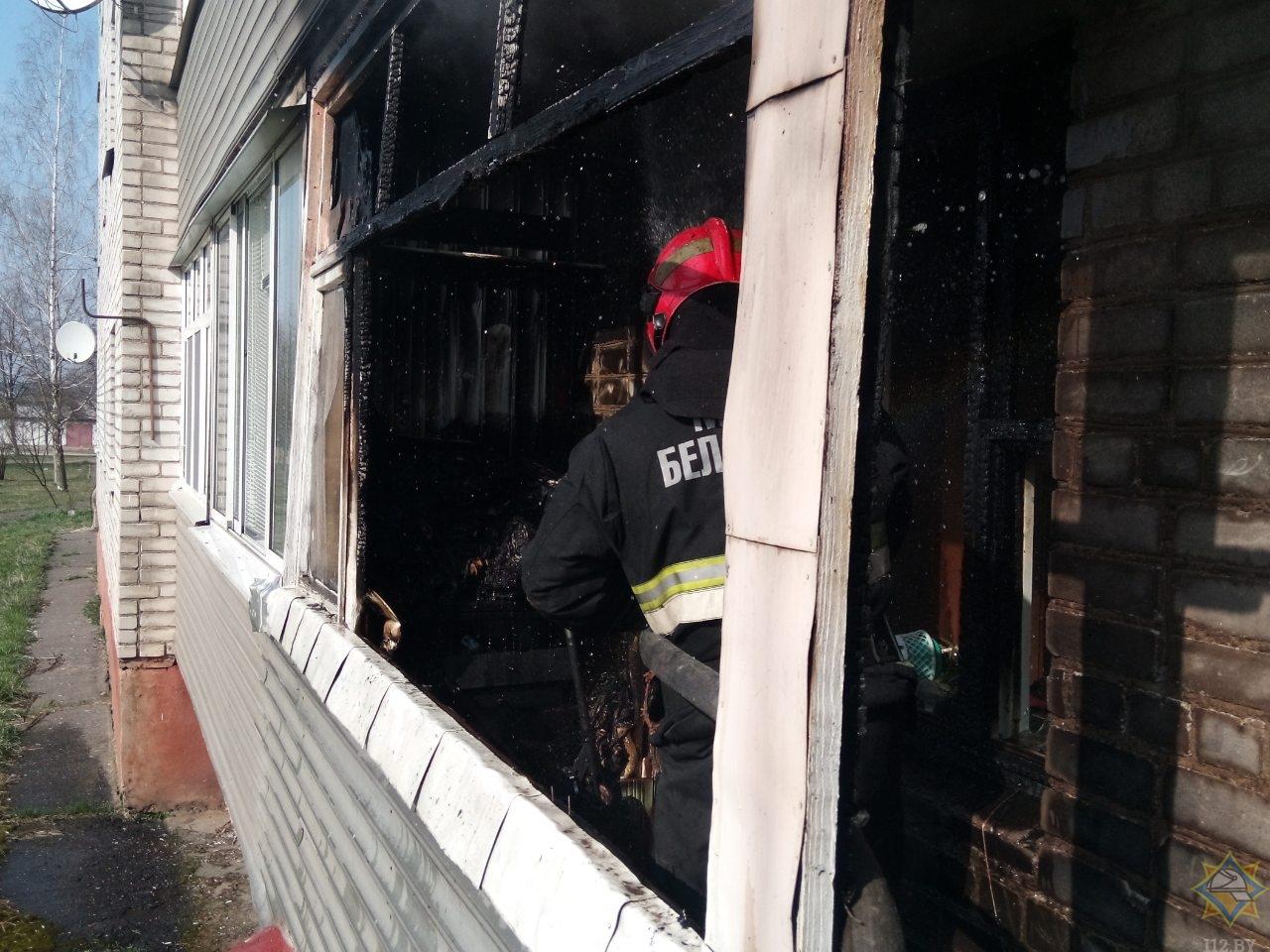 Борисовчанин пострадал при тушении собственного балкона 1