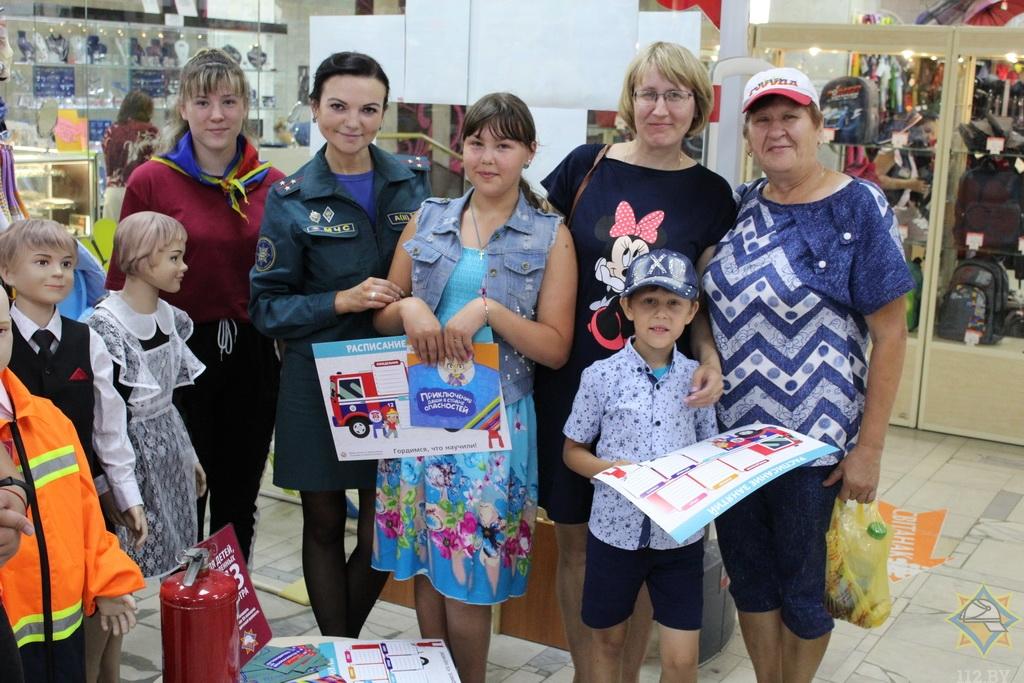 В Борисове работники МЧС провели урок безопасности в магазинах 4