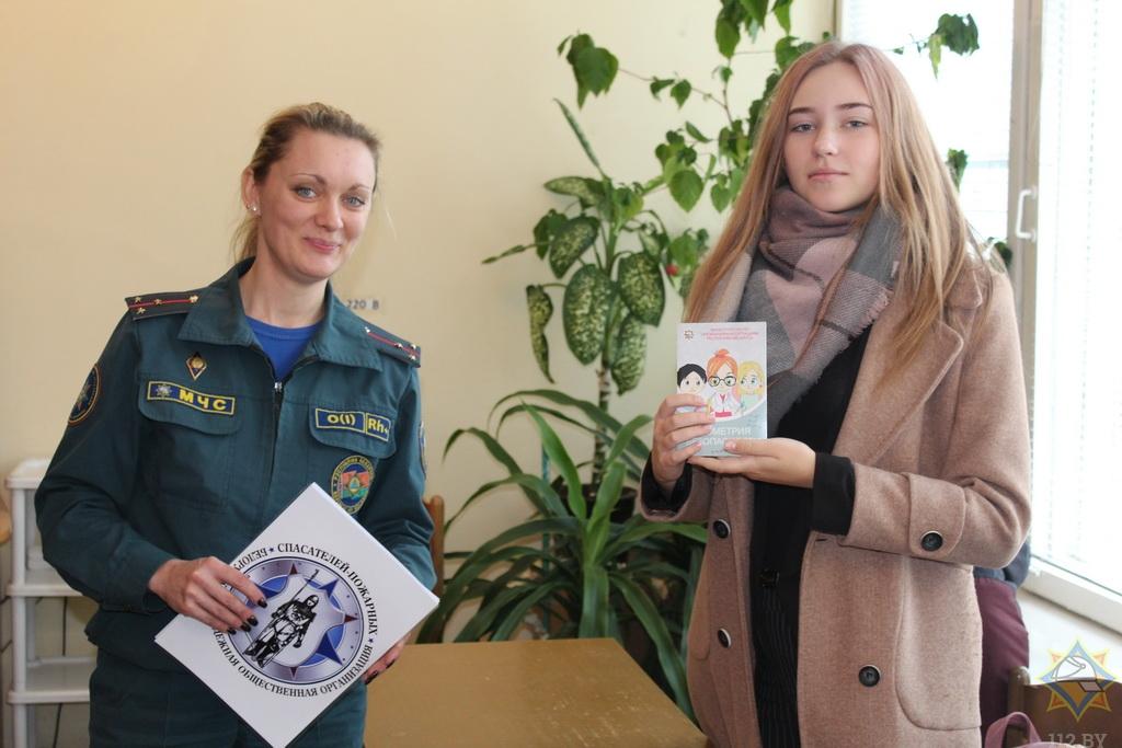 Как юные спасатели-пожарные из Борисова учат школьников безопасной жизни 1